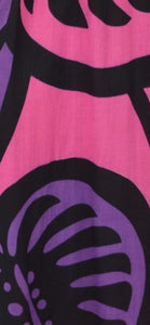 Magic Sarong - Rounded Corners - Monstera - Pink