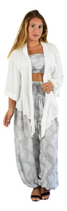 Secret Beach - Paia Jacket - White - Chiffon Rayon
