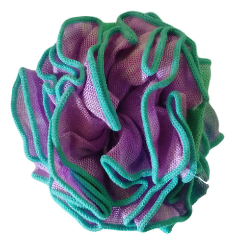 Aloha Royale - Pin - Fabric Flower - Rainbow - Green