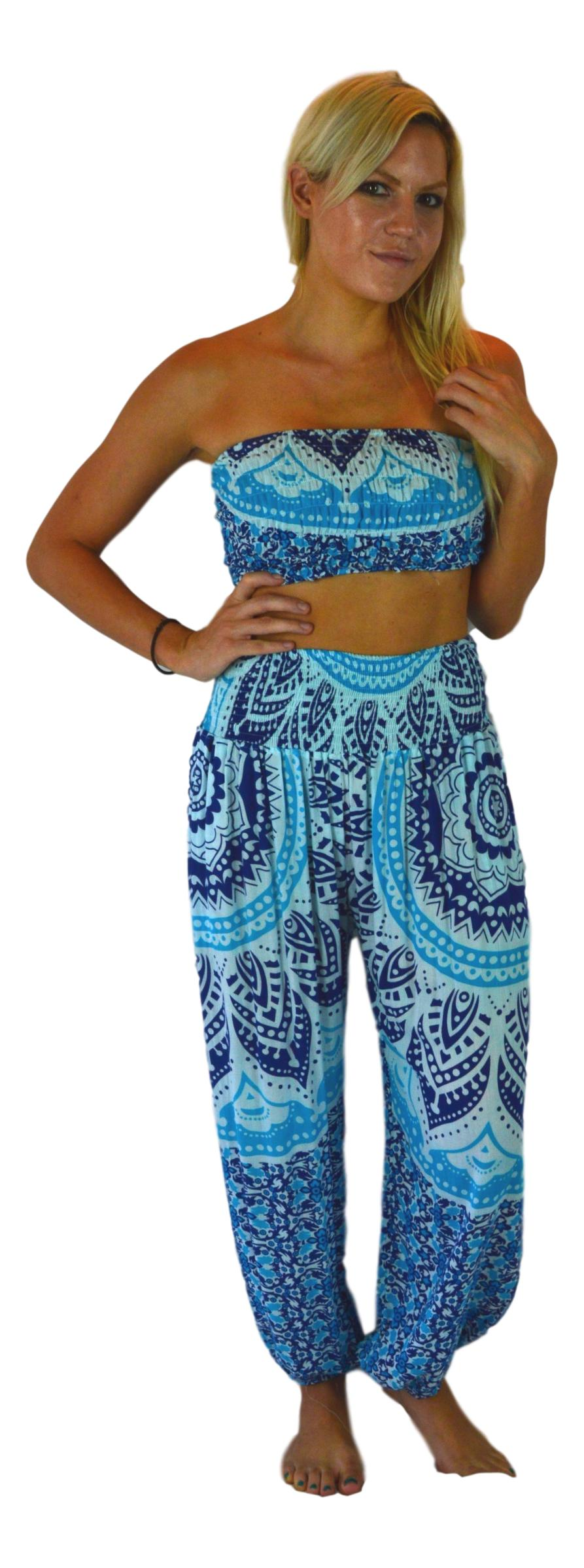 Holoholo - Pant with Bandeau Top  - Mandala - Navy