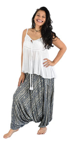 Secret Beach - Waikele Pant  - coconut button - Tribal - Navy & Cream