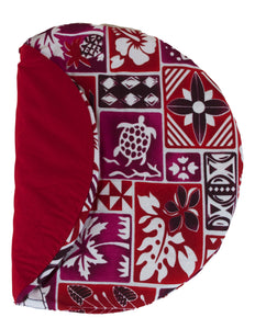 Maui Micro Mitts - Potato Pocket -  Hawaiian Print - Red