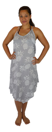 Secret Beach - Puamana Strappy Dress - V-Bottom - Pineapple - Wind Chime