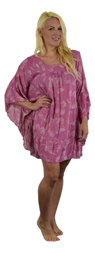 Secret Beach - Ruffle Cover Up - New Hibiscus - Rapture Rose and Orchid Mist