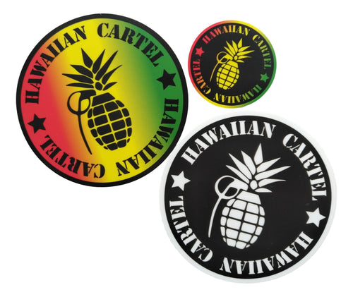 Sticker Pack - Hawaiian Cartel Logo 1 each
