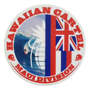Sticker - Hawaiian Cartel Surfer - 4 inch circle