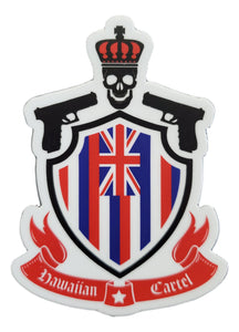 Sticker - Hawaiian Cartel Shield - 4 inch