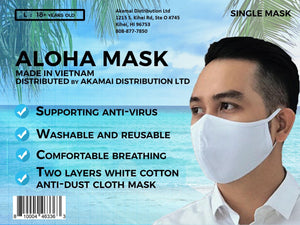 Aloha Mask Company - Single Mask - White