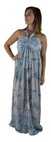 Secret Beach - Wailea Long Dress - Chrysanthemum - Slate