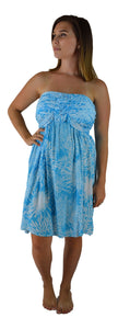 Secret Beach - Wailea Short Dress - Chrysanthemum - Blue