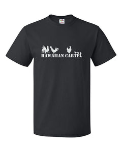 "Hawaiian Cartel - ""Chickens,"" Hawaii - Black T-Shirt"