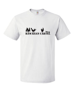"Hawaiian Cartel - ""Chickens,"" Hawaii - White T-Shirt"