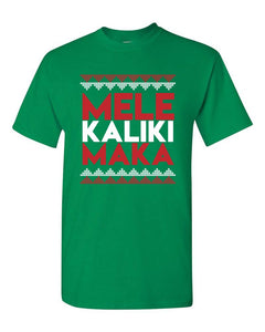 Mele Kalikimaka Green Mens T-Shirt