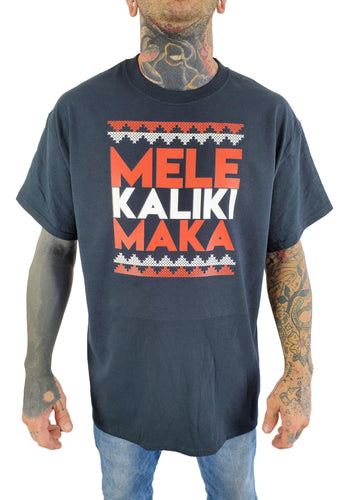 Mele Kalikimaka Black Mens T-Shirt
