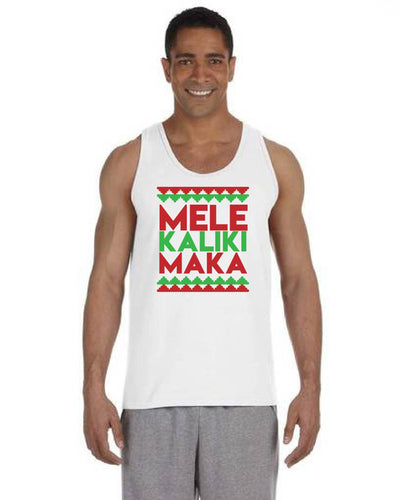 Mele Kalikimaka White Mens Tank Top
