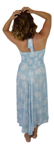 Secret Beach - Waikoloa Halter Dress - Pineapple - Ballad Blue