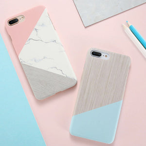 Pink Splice Marble Phone Cases