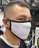 Anti Fluids Sublimation Face Mask Blanks Adults White Trim