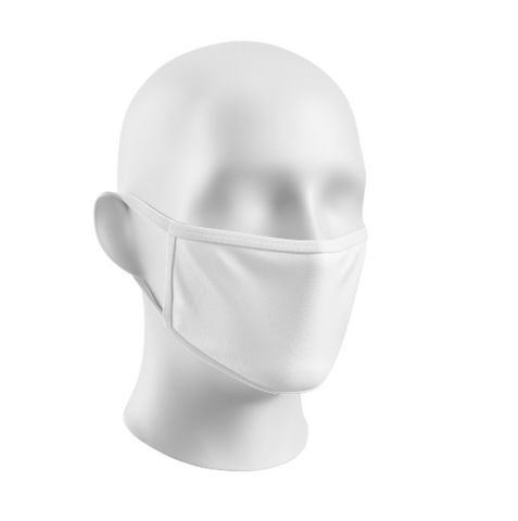 Sublimation Face Mask Blanks Youth White Trim