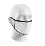 Sublimation Face Mask Blanks Youth Black Trim