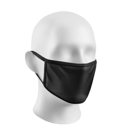 Face Mask Black Adults Black Trim