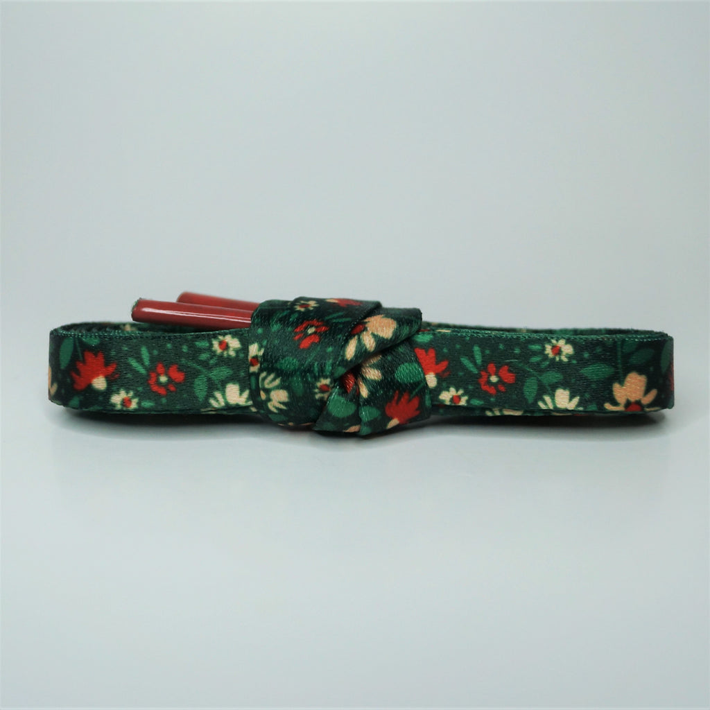 """Noel"" - Holiday Floral Shoelaces"