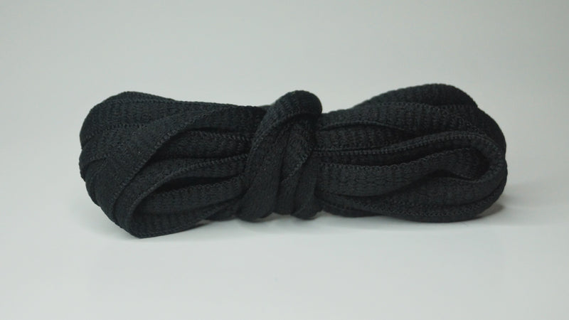 Jet Black - Oval Laces