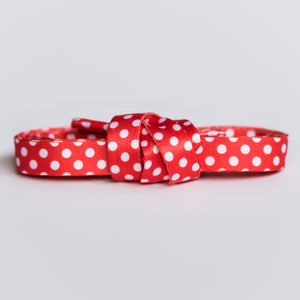 red and white polka dot shoelaces