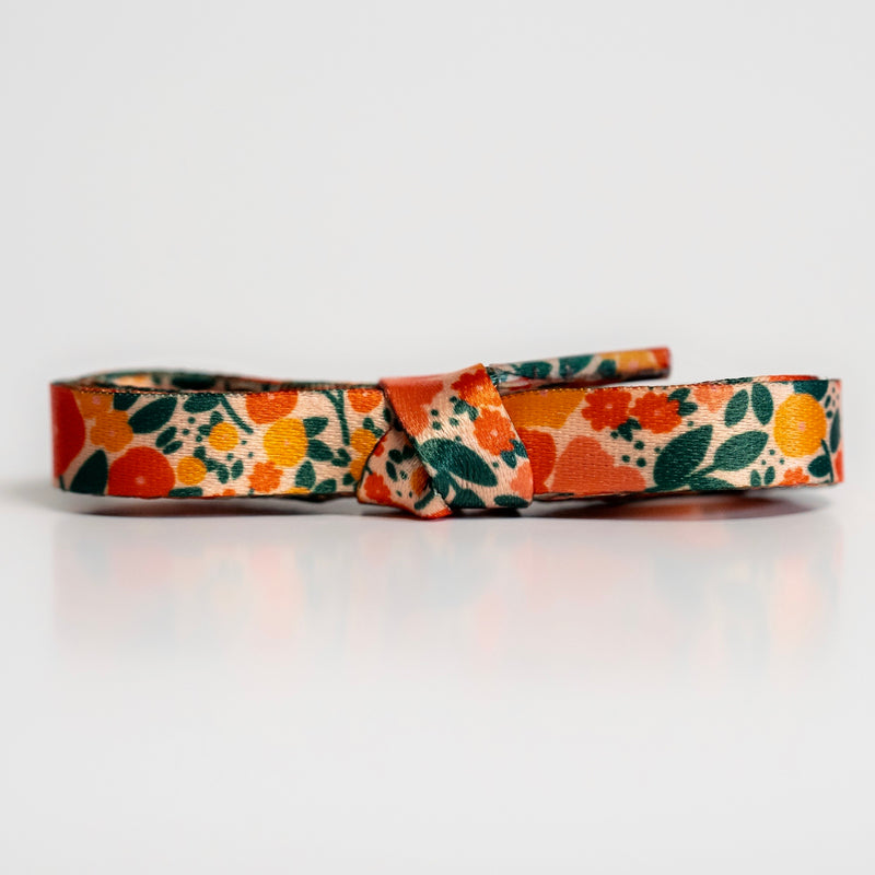"""Poppy"" - Floral Shoelaces"