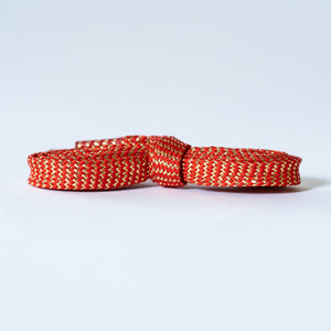 """Ruby"" - Metallic Shoelaces"