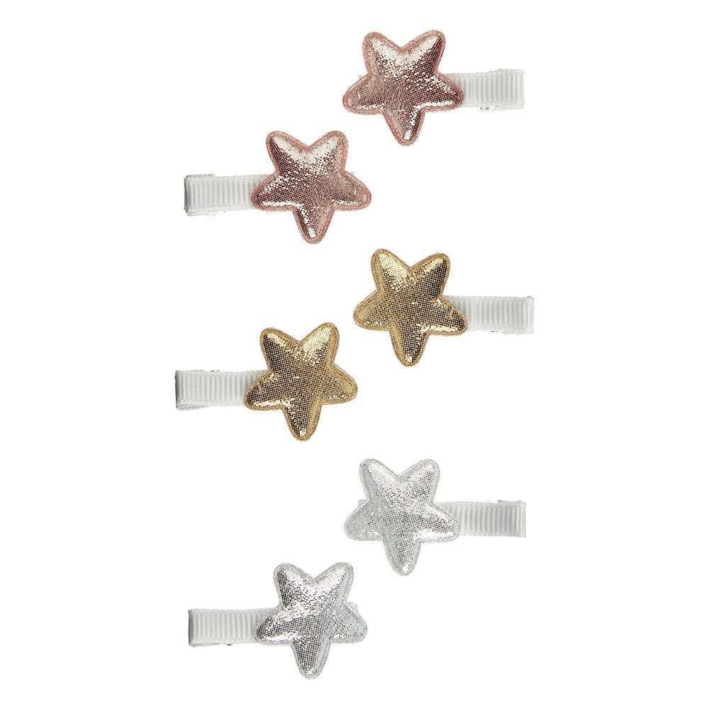 Mimi & Lula 6-pak mini superstar salon hårclips - Metallic