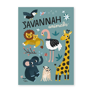 Michelle Carlslund Plakat 50x70cm - Savannah animals