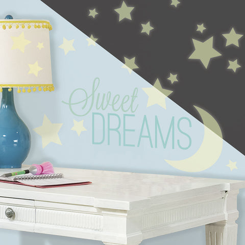 RoomMates - Wallstickers - Sweet Dreams- Lyser i mørke