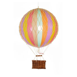 Luftballon Authentic models - Travels Light - Regnbue pastel 18 cm