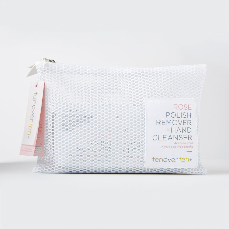 Rose Polish Remover + Hand Cleanser Cloths