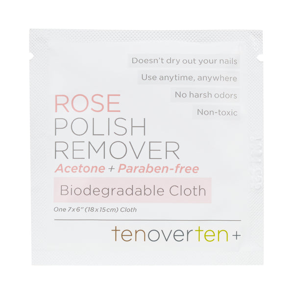 Rose Polish Remover Cloths - 8 Pack