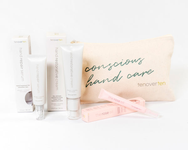 MOTHER'S DAY HAND REPAIR KIT: TENOVERTEN x LOVE KATE Hand Repair Serum, Restorative Cream & Rose Oil CURATED BY KATE BOCK