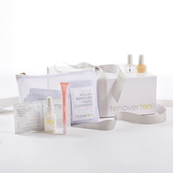 At Home Nail Care Kit : Base, Top, Remover, Nail Dryer and Cuticle Oil