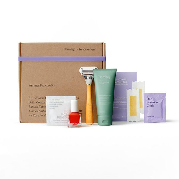 tenoverten x flamingo :   The Summer Pedicure Kit