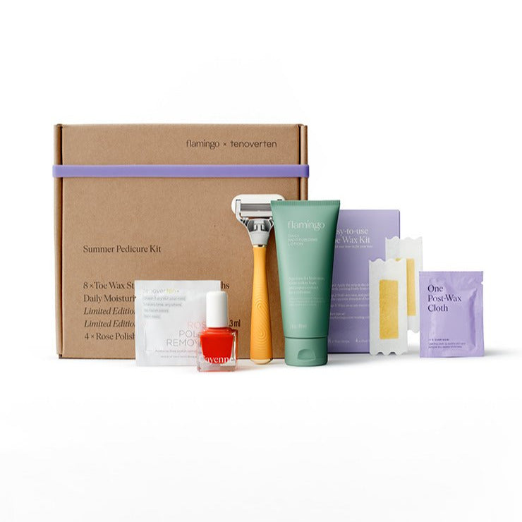 tenoverten x flamingo :   The Pedicure Kit