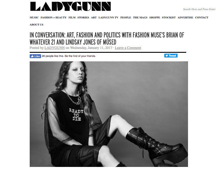 Ladygunn Magazine Whatever 21 x Músed Interview