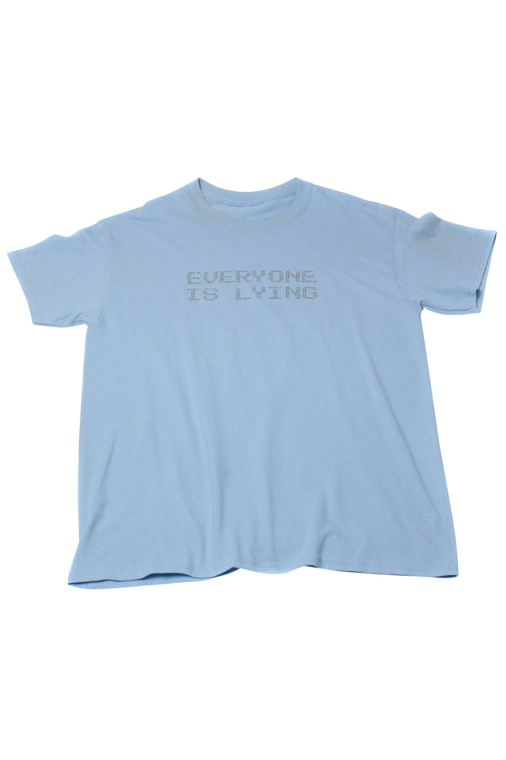 EVERYONE IS LYING CRYSTAL TEE BABY BLUE