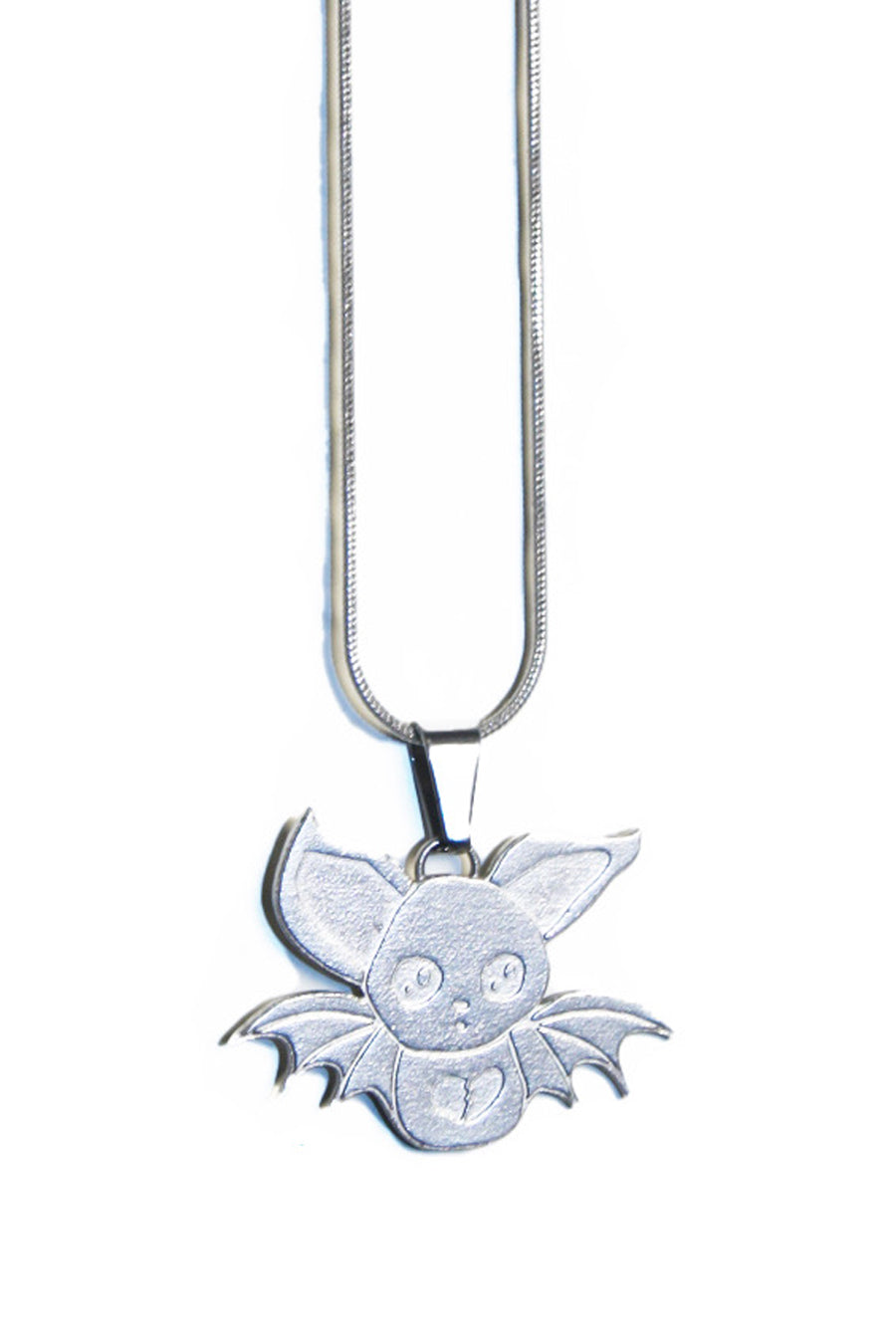 Whatever 21 X Saint Terror Broken Heart Bat Pendant
