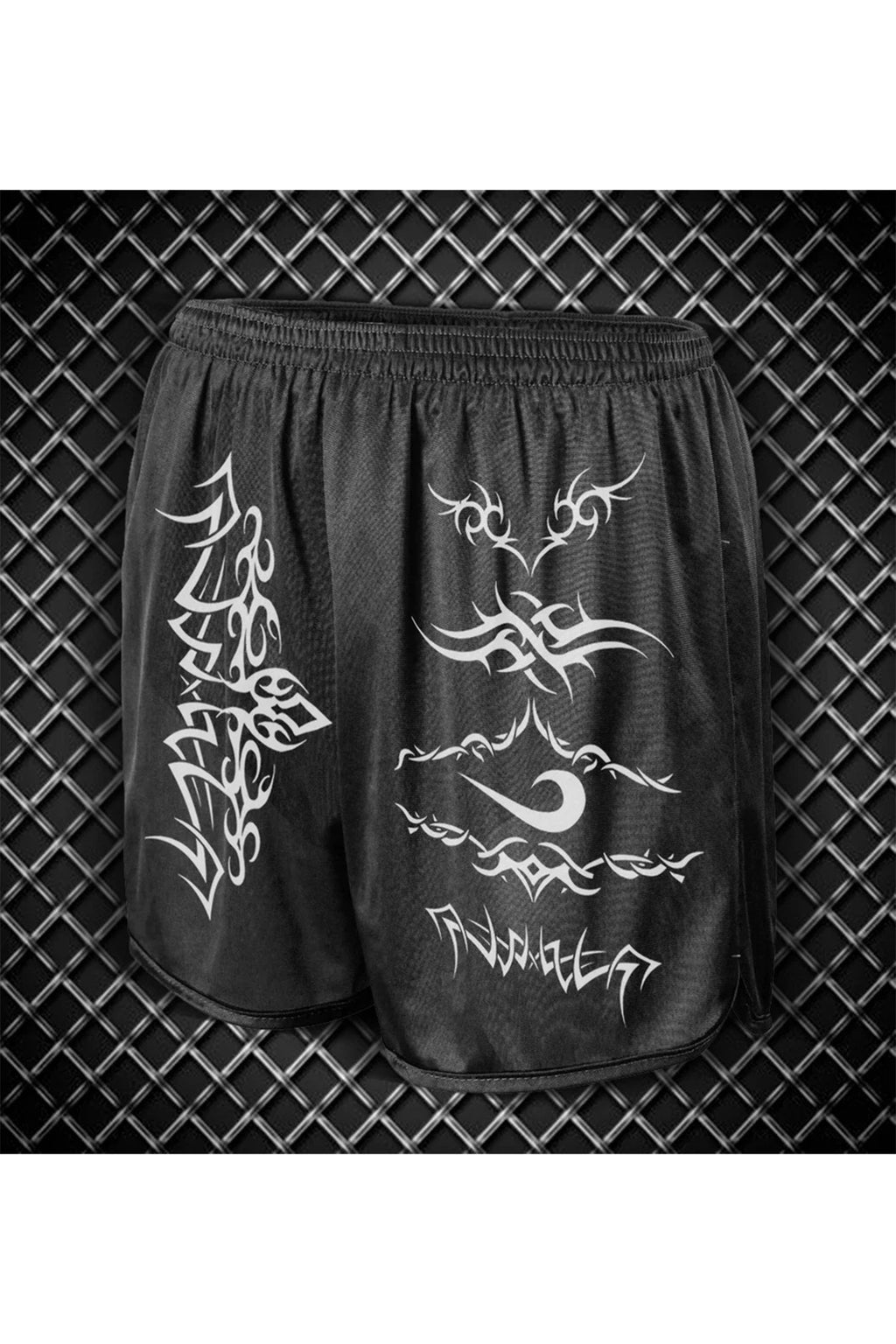 TRIBAL SWIISH™ BLACK RUNNING SHORTS