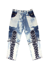 Acid-Wash Zip-Off Backpack Pants