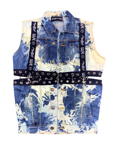 Rave Trash Acid Wash Convertible Vest