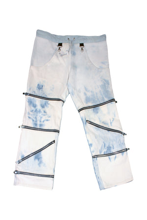 Acid Wash Zipper Jeans