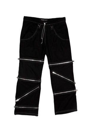 Black Zipper Pants