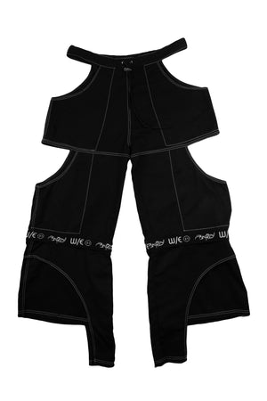 Cutout Zip-Off Pants