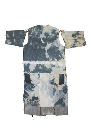 Acid Wash Denim Robe